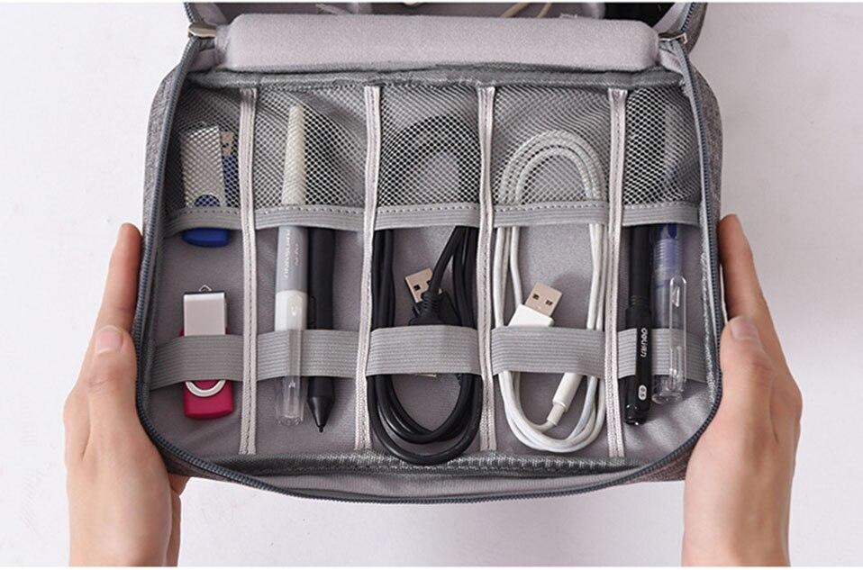 Travel Organizador Portable Digital Accessories Gadget Devices Organizer USB Cable Charger Tote Case Storage Bag Hot Sale (10)