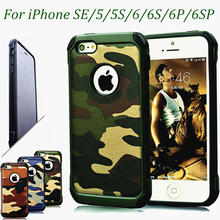 5 S 6 Tough Armor Case For iPhone 5S SE iPhone 5 Silicone Case Camo Dual Layer Military Cover for 6Plus iphone 6Splus Promotion