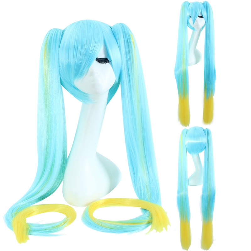 League of Legends Sona Buvelle 120cm 600g Long Straight Blue and Yellow Cosplay Wigs for Women Female Fake Hair Anime Game Wig<br><br>Aliexpress