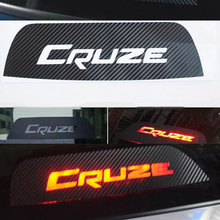 High Mounted Stop Brake Lamp Light 3D Carbon Fiber Stickers And Decals Car-Styling For Chevrolet Cruze Accessories