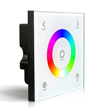DX3 Touch Panel Wall Mount RGB LED controle dmx Controller 2.4G RF Wireless Sync Control DMX512 Signal Output for RGB led Strip(China)
