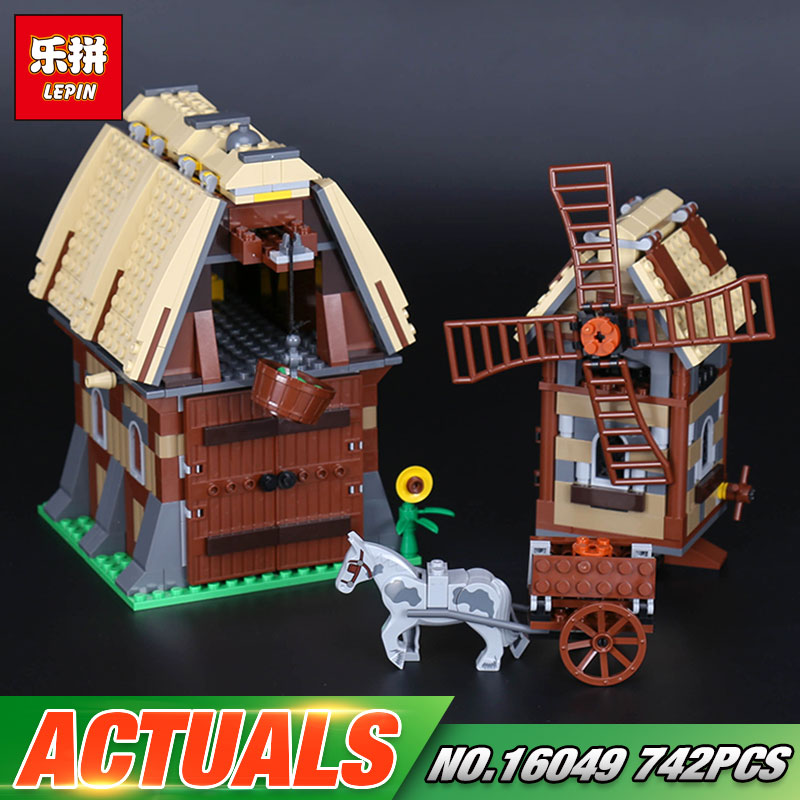 Lepin 16049 Genuine 742Pcs Creative Series The Mill Village Raid Set 7189 Building Blocks Bricks Educational Toys As Funny Gifts<br>