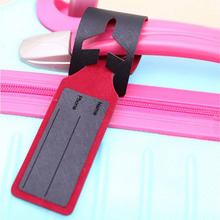 10PCS/LOT Aircraft Luggage Tag Fashion Slim Consignment Travel Accessories PU Leather Pendant Traveling Accessories HG0228T