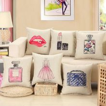 Fashion red lips cushion without inner lipstick perfume bottle home sofa decorative pillow car seat capa de almofada cojines SW2