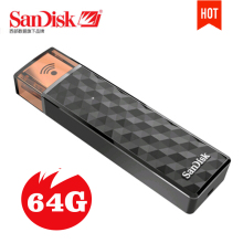 SanDisk Connect Wireless Stick USB Flash Drive 64GB Wi-Fi plus USB 2.0 Pen Drives 64G PenDrives Support official verification