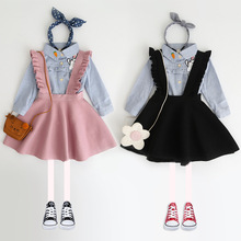 New Autumn 2018 Brand Baby Girls Dress Sweaters Kids Overalls Dress Children Knitted Dress Strap Toddler Dress Beautiful,#2339