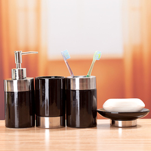 Fashion Black Ceramic Bathroom Set  Bathroom Supplies Four Pieces Bathroom Accessories