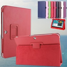 Folio PU Leather Stand Case Ultra Thin Smart Cover for Samsung Galaxy Tab 2 10.1 P5100  P5110 P7500 Tablets case Protector Film