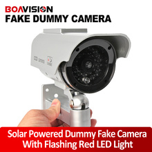 Fake Camera Solar Energy Powered Dummy Camera CCTV System Security Dummy Camera With Red Blinking LED Fake CCTV Cameras System