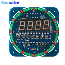 Assembled DS1302 Rotating LED Electronic Digital Clock Kit 51 SCM Learning Board 5V(China)