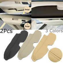 1 Pair Left Right Leather Front Door Panels Armrest Covers For Honda CRV 2007-2011(China)