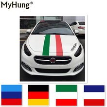 Germany Italy UK Flag Stripe 3D Car Sticker France Flag DIY Colorful Stickers For Fiat Bravo Punto panda 500C 2M Car Styling(China)