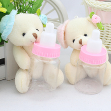 8 pcs Stuffed Toys for Children,Bear Head Cheap Price Wedding Bottle Teddy Bear,Kids Toys for Girls,Valentine's day gifts
