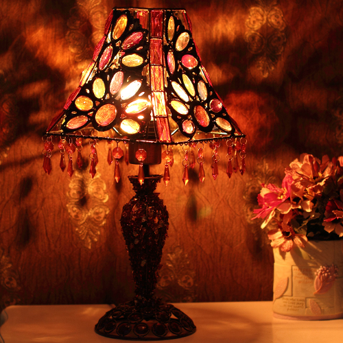 Acrylic beads fashion table lamp ofhead lighting color film pyramid lamp cover decoration<br><br>Aliexpress