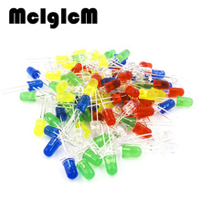 86020 100pcs free shipping 5mm LED diode Light Assorted Kit DIY LEDs Set White Yellow Red Green Blue electronic diy kit Hot sale