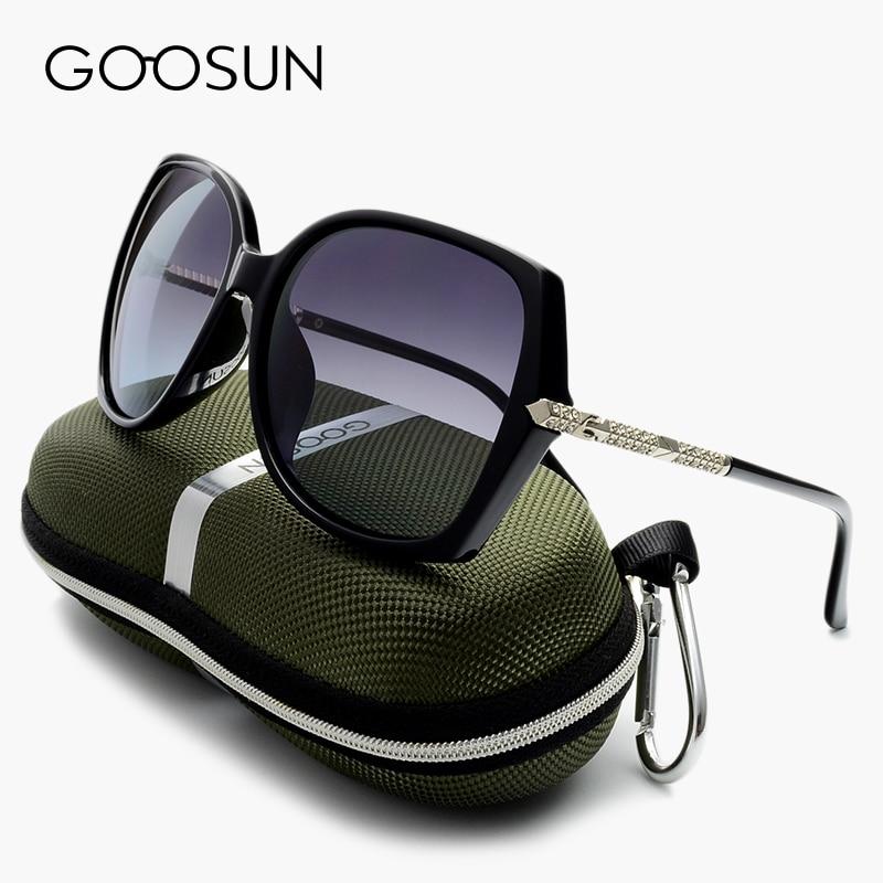 GOOSUN Polarized Sun glasses Women Vintage Oversized Female Sunglasses Luxury Brand Designer Ladies Sun Glasses With Box Black<br><br>Aliexpress