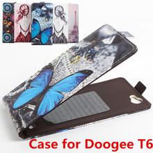 100% High Quality Leather Case For Doogee T6 Flip Cover Case housing For Doogee T 6 Mobile Phone Cases(China)