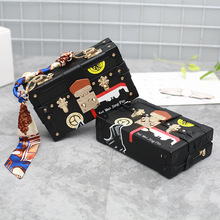 Geometric patterns with scarf bag women retro retro small package new shoulder diagonal cross bag lock box bag packing cubes(China)