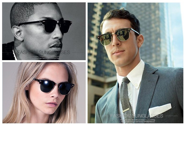 Luxury Square Men Sunglasses Women Brand Designer 2017 Retro Vintage Sun Glasses For Women Men Male Lady Female Sunglass Mirror (21)