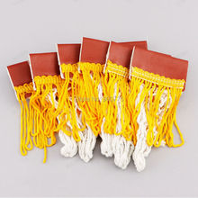 set of 6 Small Pool Billiard Table Cotton Pockets complete Pre Stitched Leather with Tassels