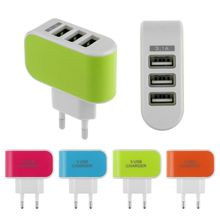 3.1A Triple USB Port Wall Home Travel AC Charger Adapter For Samsung HTC EU Plug US Plug