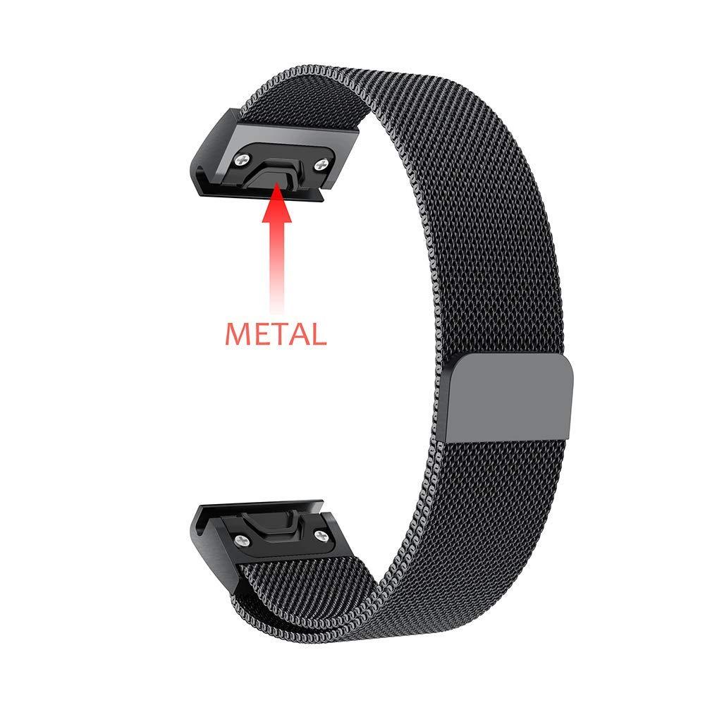 Milanese Loop Stainless Steel Mesh Replacement Bracelet Strap for Garmin Fenix 5x Fenix 3 Smart Watch Small Large 9.26 (5)