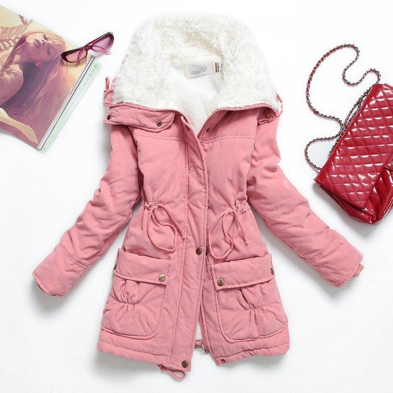 Winter Jacket Women 2017 New Plus Size Cotton Wadded Coat Thick Slim Outwear Medium-long Parka Warm Berber Fleece Jacket CoatОдежда и ак�е��уары<br><br><br>Aliexpress