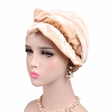 New Woman Velvet Retro Women Velvet Turban Scarf Muslim Hijab Extra Long Multi Function Headwrap Scarf Bandanas(China)