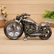 Fashion  Vintage Cool Scale Mini Motorcycle Shape Digital Alarm Clock Silver Retro Super Cool Gifts 21.7 x 12 x 5.2cm