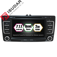 Android 7.1.1 Two Din 7 Inch Car DVD Player For SKODA/Octavia 2009-2013 Canbus RAM 2G ROM 16G WIFI GPS Navigation Radio USB FM