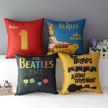 The beatles' classic American couples cotton hold pillow fashion sofa cushion for leaning on 45 * 45 sets No Inner