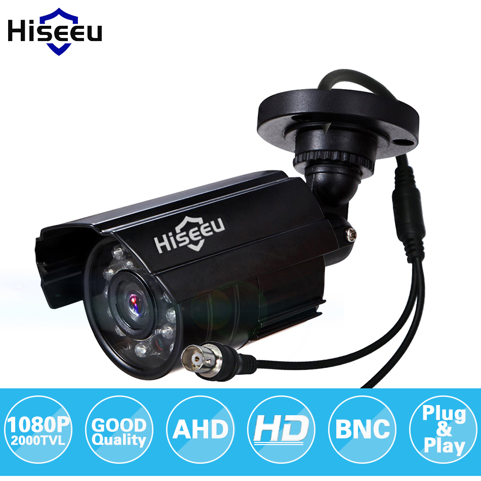 Hiseeu AHDH 1080P Metal Case AHD Analog High Definition Metal Camera AHD CCTV Camera Security Outdoor free AHBB12