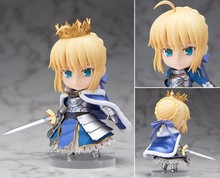 Fate/stay Night Action Figure Nendoroid Saber Knight PVC Figure Toy 100MM Fate Stay Night Knight Saber Collectible Model Toy(China)