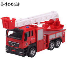 New Arrrival 1:55 Sliding Alloy Engineering Car Garbage Truck Model Children Toys Fire Engine Children's Educational Toys Gifts