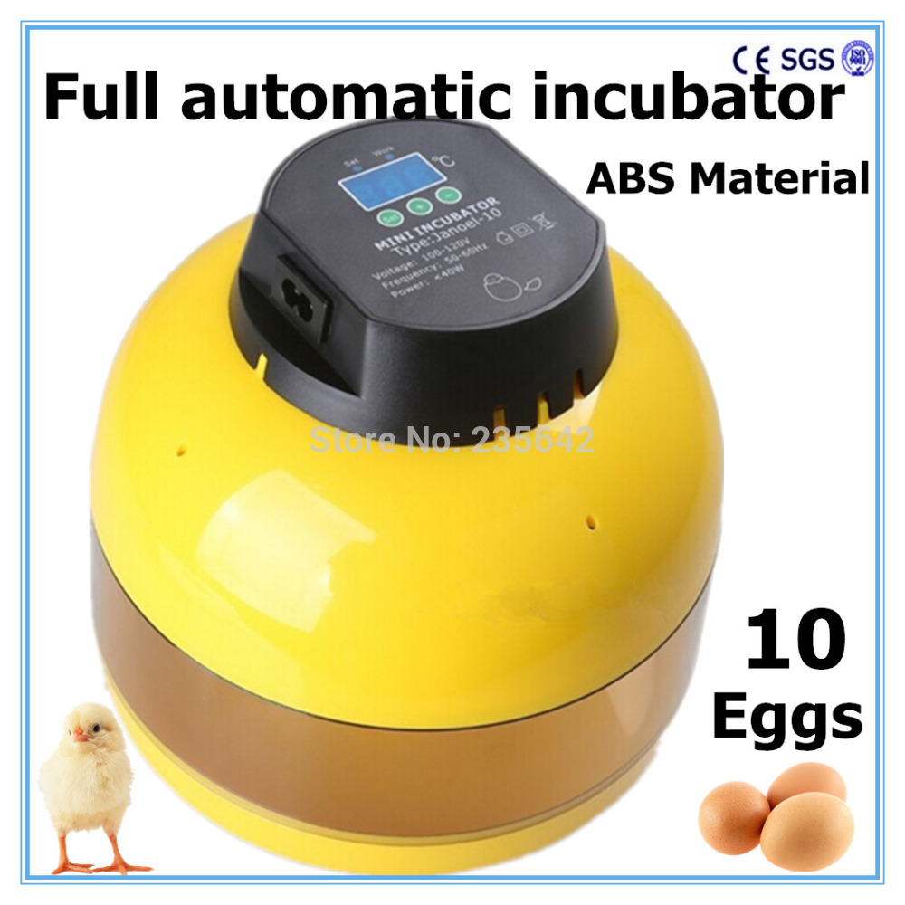 Capacity 10 chicken eggs hatch fully automatic mini incubator chicken egg incubator for sale<br>