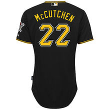 MLB Men's Pittsburgh Pirates Andrew McCutchen Baseball Black 6300 Player Authentic Jersey(China)