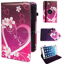 Free Shipping 300pcs/lot 360 Degree 9inch Rotating Painted Texture Universal Case Cover 9 inch Universal Tablet Case