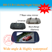 Free Shipping 7 Inch TFT Color Mirror LCD Car Rearview Screen Monitor Backup Camera(China)
