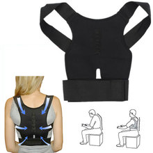 Adjustable Posture Corrector Braces Supports Back Belt Support Corset Back Lumbar Shoulder Corrector with Magnet Stone