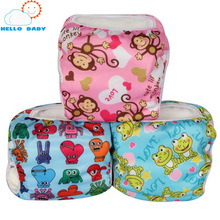0-2years 3-15kg Waterproof Baby Swim Cloth Diaper Reusable Nappy Cover Cartoon Breathable Diapers Washable Nappies For Babies