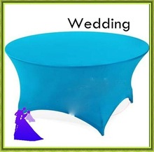Blue table cloth round spandex wedding ,banquet  party free shipping