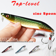 Top-level 18g 25g colorful zinc Spoon Metal Lures Fishing Lures Brand Hard Bait Fresh Water Bass Walleye Crappie Fishing Tackle