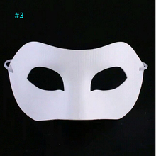 wholesale 2000pcs White Plain Paper Mask with Elastic DIY Blank Masquerade Masque free shipping