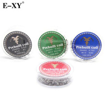 E-XY 100coils/ box Prebuilt Coil SS316L A1 NI80 Titanium TA1 Heating Wire Atomizer Atomizing Core Heating DIY Wire For RDA RBA