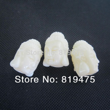 (10 pieces/lot) Avalokiteshvara Bodhisattva Buddha shape Cabochon Synthetic Coral beads for Jewelry making(China)