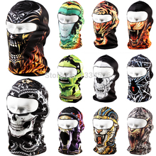 Brand 3D Snowboard Motorcycle Skull Cap Helmet Balaclava Headgear Hats Protect Full Face Mask