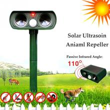 Garden Cat Dog Pest Repeller Solar Power Ultra Sonic Scarer Frighten Animal Repellent(China)