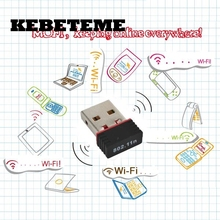 KEBETEME 5PCS USB 2.0 150Mbps Mini Network Card Wireless USB WiFi LAN Adapter 802.11n/g/b WIFI adapters antenna For PC Computer(China)