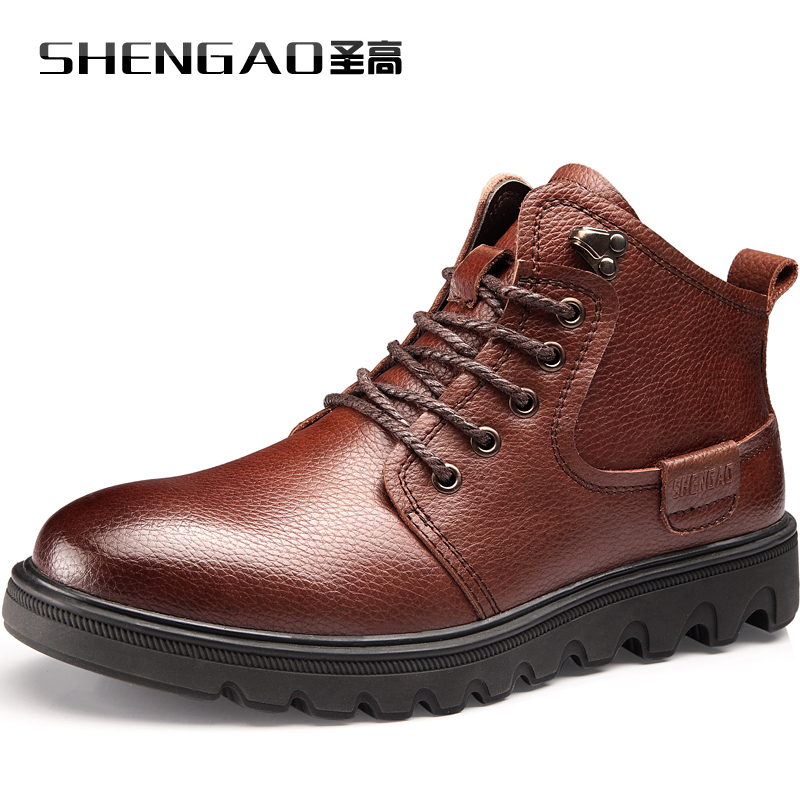 2016 Newest Mens Keep Warm Ankle Boot for Winter Snow Days Boots S5677 Leather Boots Lace-Up<br><br>Aliexpress