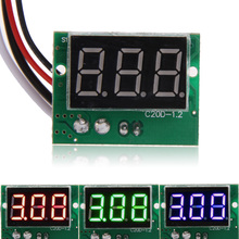 Dirent DC 0 to 5A 0.36Inch Red LCD Digital Tube Display Ampermeter Panel Ammeter Current Meter Tester